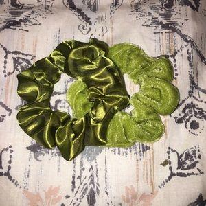 Accessories - Handmade Scrunchie Set- olive